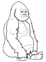 Printable Ape Coloring Pages Free