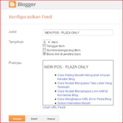 Cara Paling Mudah Menampilkan Artikel Terbaru di Blog