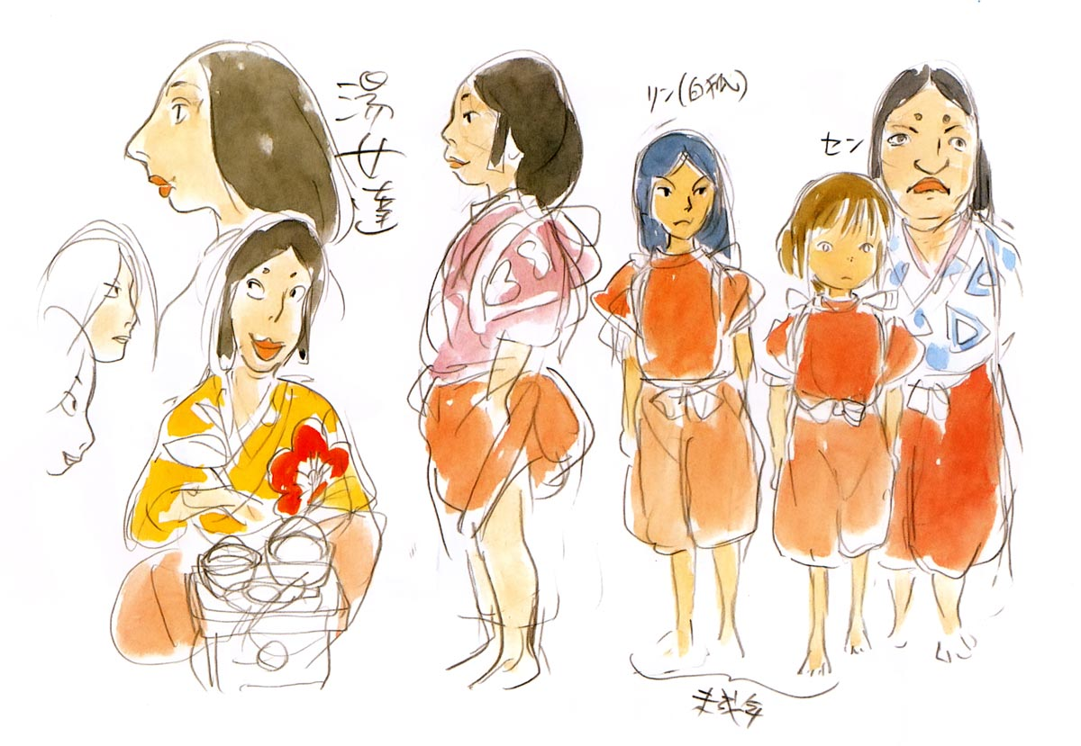 Character Design Library : Living lines library 千と千尋の神隠し spirited away