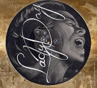 Retratos Sobre Discos de Vinilo Reciclados