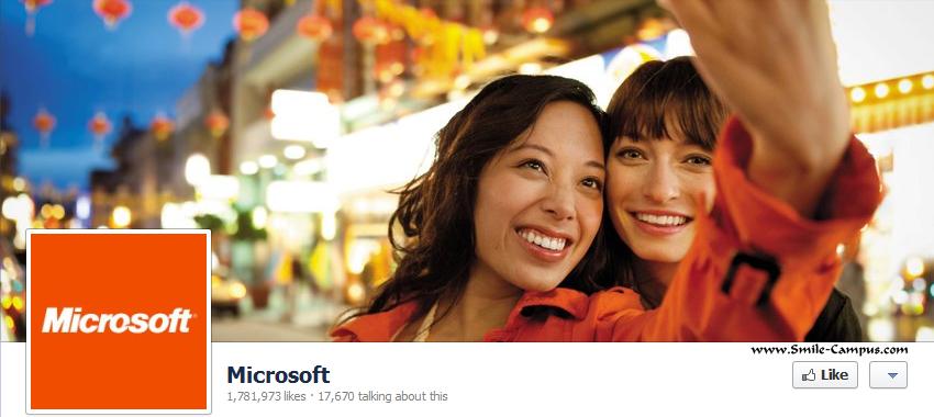 Microsoft.com Facebook Timeline Page