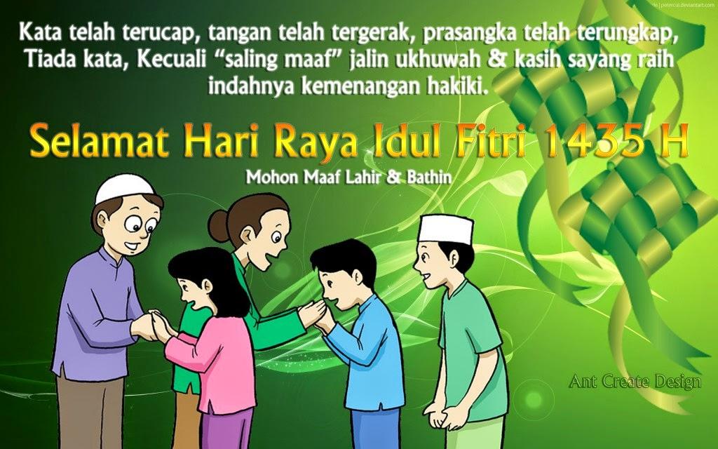 Kumpulan Ucapan Selamat Hari Raya Lebaran Idul Fitri 1435