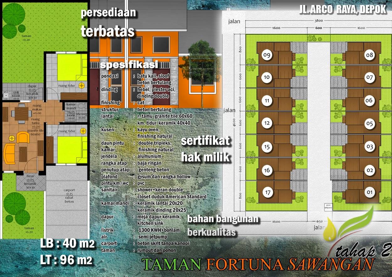 Perumahan Murah BagusTaman Fortuna Depok Sawangan Jl Arco
