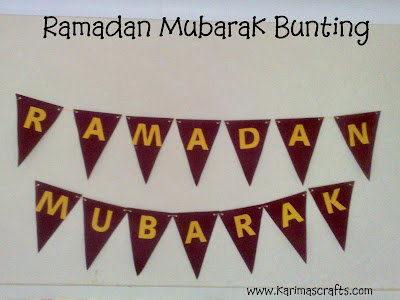 ramadan mubarak bunting banner muslim blog
