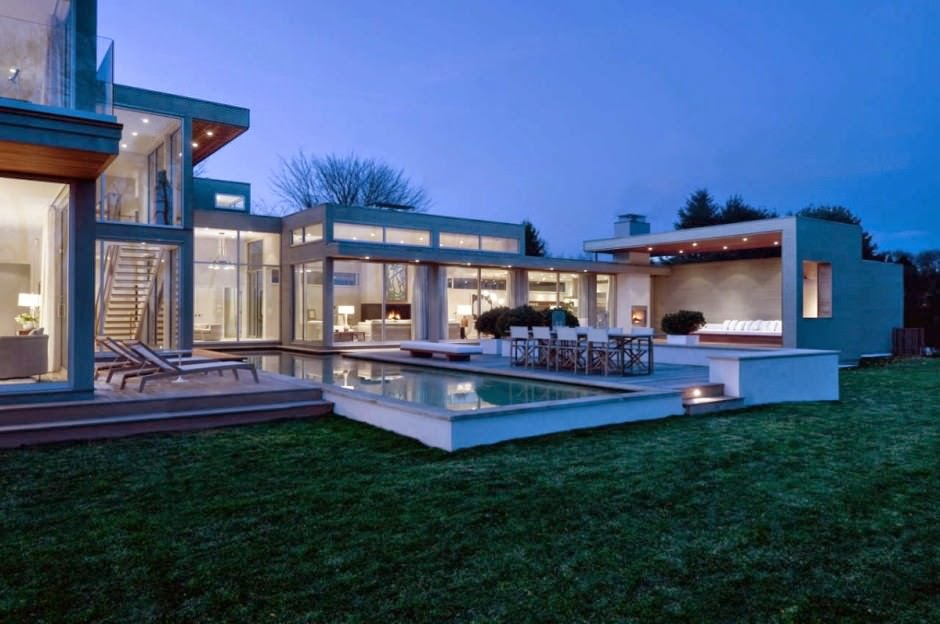 Fieldview house blaze makoid architecture east hampton for Casa moderna con piscina