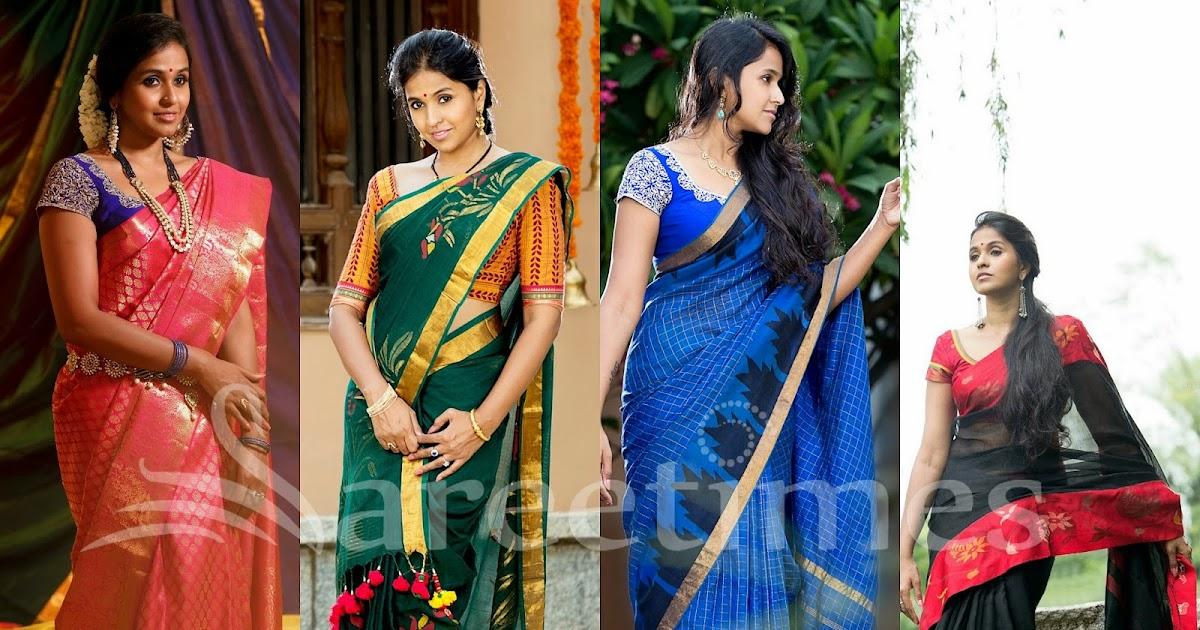 smitha traditional saree photoshoot sareetimes