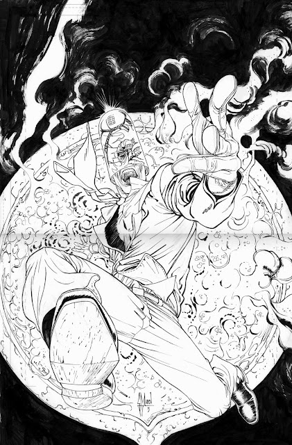 Making of a cover: BATMAN 24 variant by Guillem March