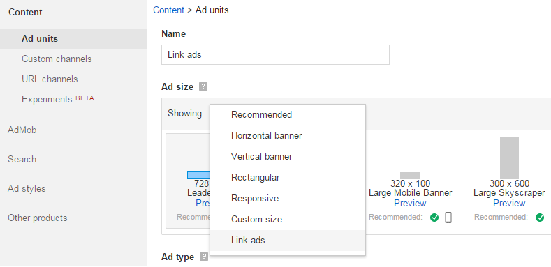 Cara Memasang Unit Iklan Link Adsense di Blog