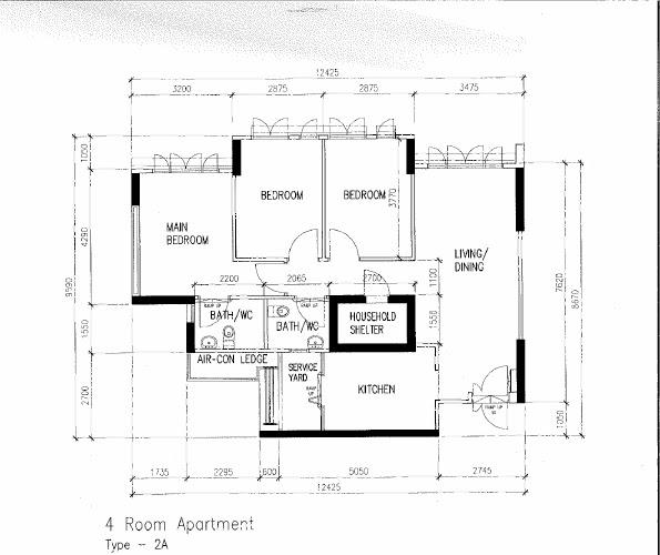 butterpaperstudio: Reno@Sembawang - 4 Room BTO flat Floorplan