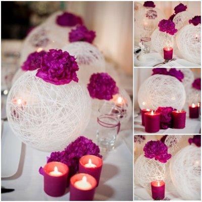 Wedding Flower Balls on Photo Courtesy Of Wedding Wire