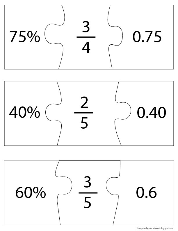 Relentlessly Fun Deceptively Educational Fraction Decimal and – Percent to Decimal Worksheet