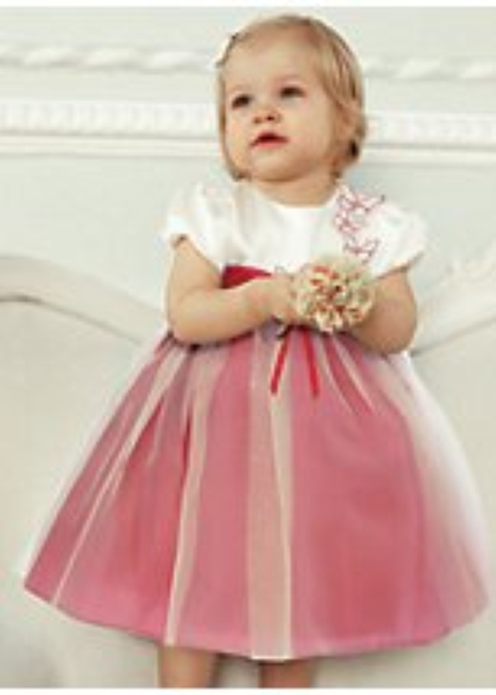 Baby dresses for weddings the image kid for Baby pink wedding dress