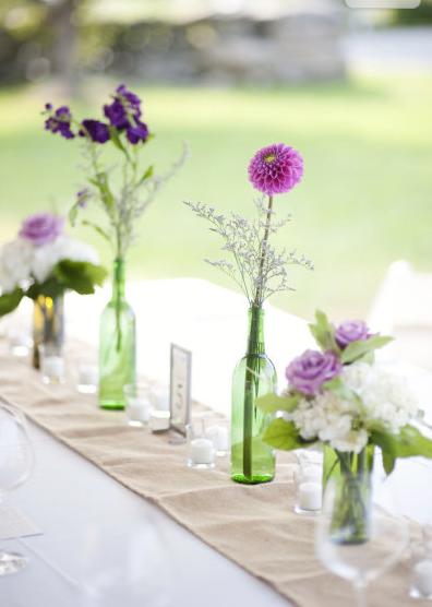 Centros de mesa con botellas de vino i - Centros decorativos para mesas ...