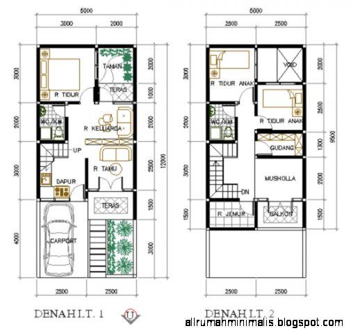 contoh denah rumah minimalis 2 lantai design rumah minimalis