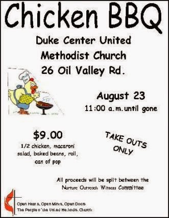 8-23 Chicken BBQ Duke Center