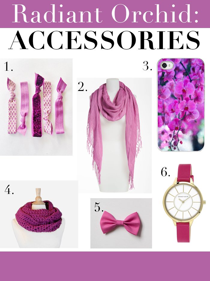 PANTONE Radiant Orchid Inspiration: Accessories