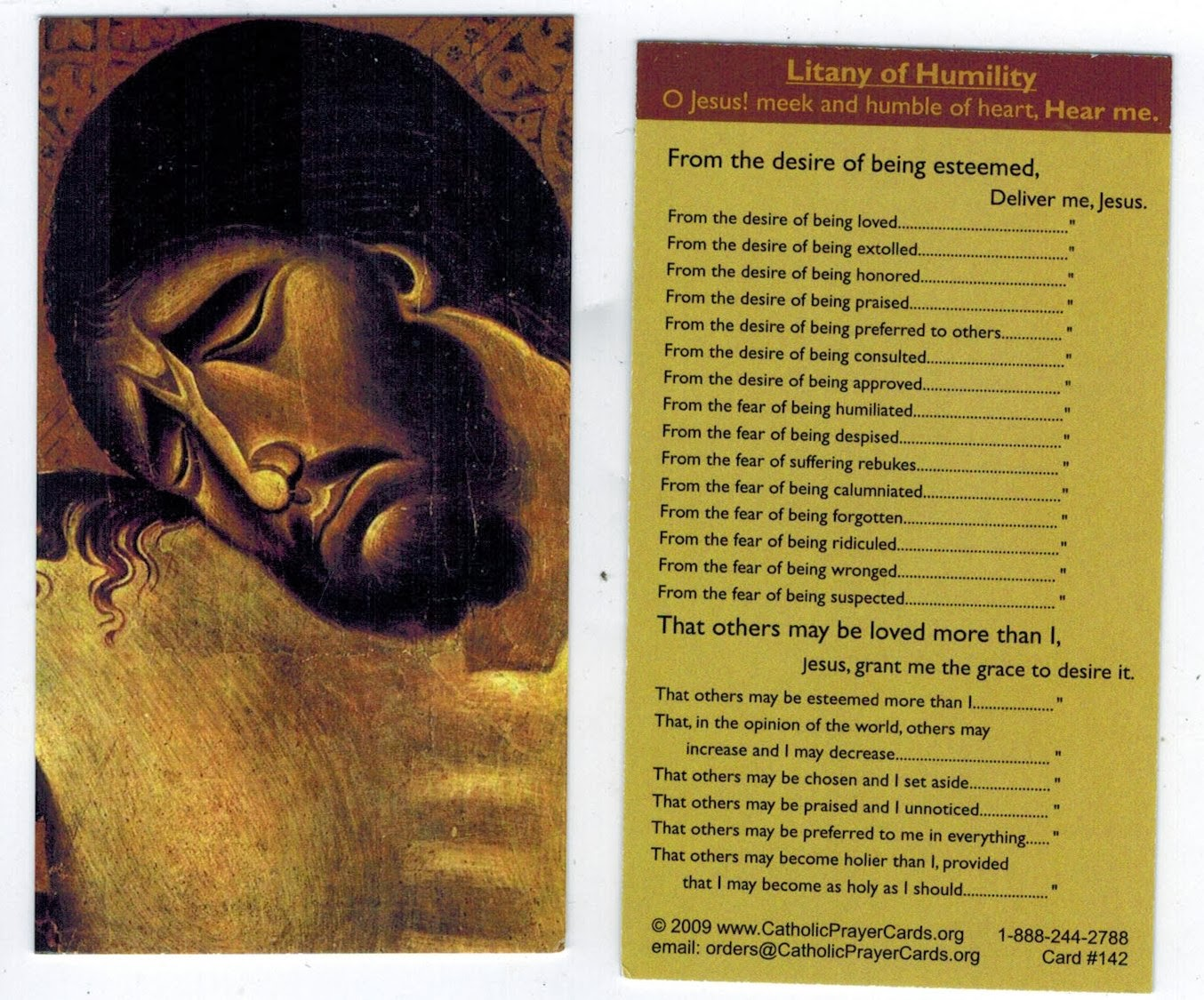 This is a photo of Rare Litany of Humility Printable