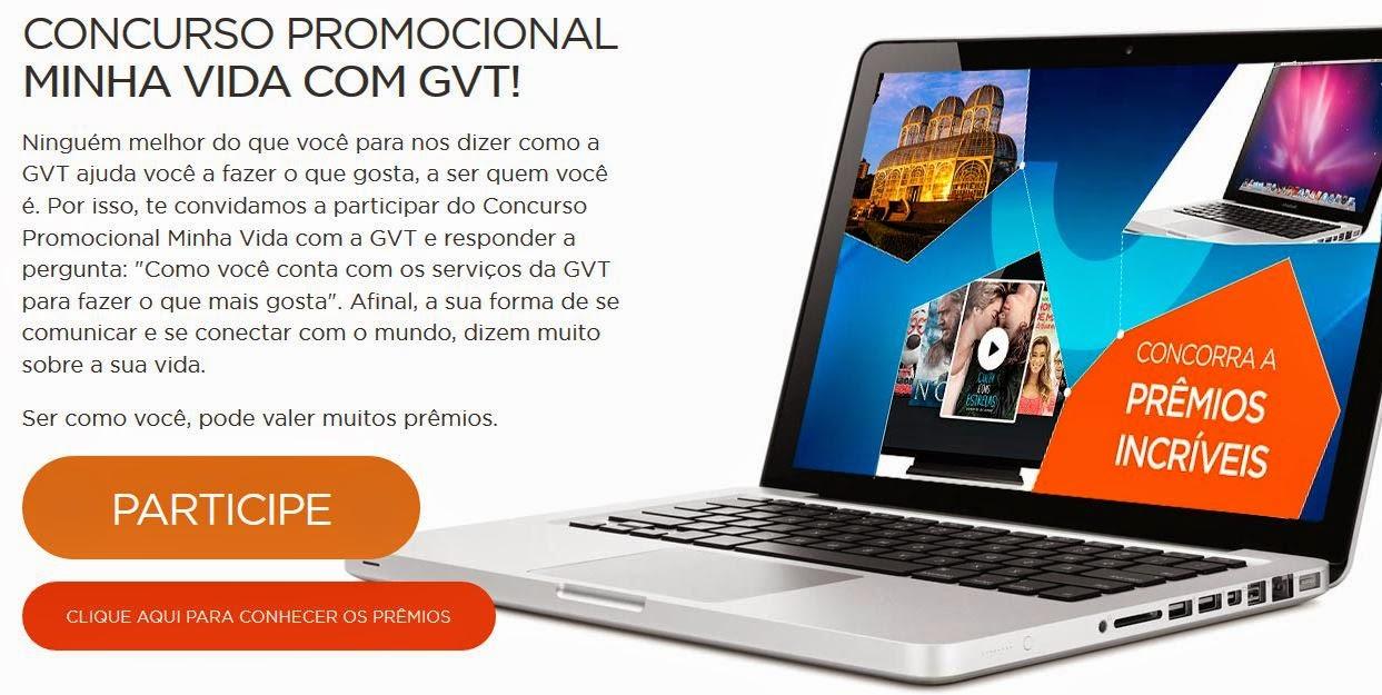 Concurso Promocional Minha vida com GVT
