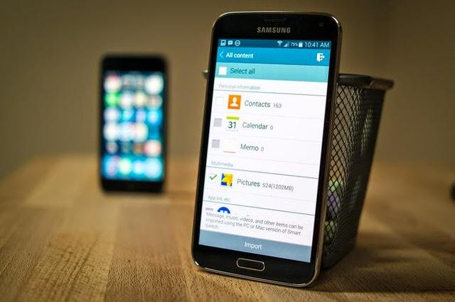 Cách chuyển toàn bộ dữ liệu từ iphone sang Galaxy 5