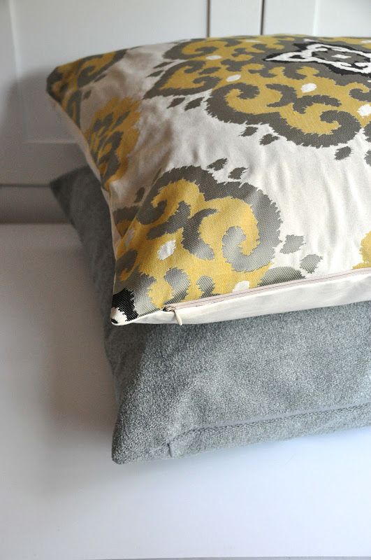Make Throw Pillow Cover Without Sewing : Aesthetic Nest: Sewing: Pillow Covers with Invisible ...