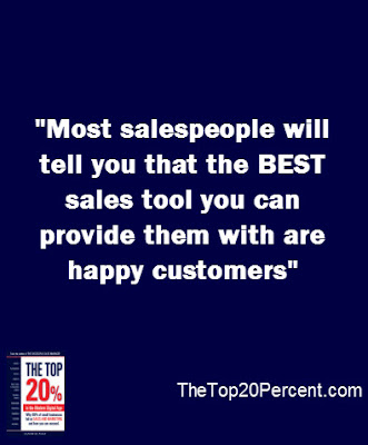 Most salespeople will tell you that the BEST sales tool you can provide them with are happy customers