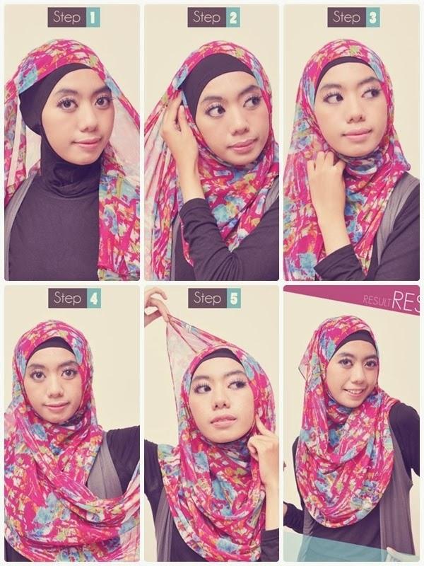 Tutorial Jilbab Simple Pashmina Sifon
