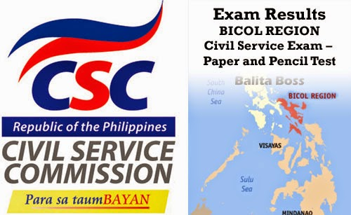 Region 5 - Civil Service Exam Results