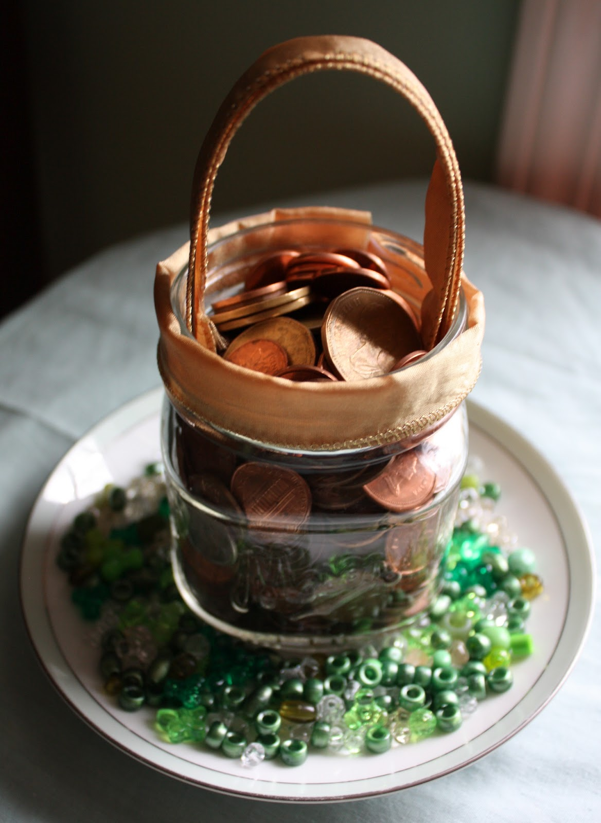 DIY Decorating For St Patricks Day Penny Jar Pot O