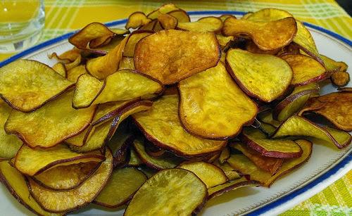 Snack de batata doce frita