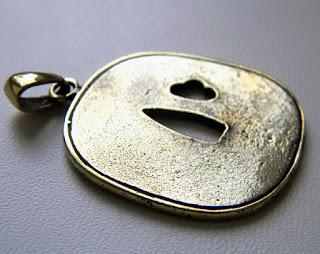 купить цубу кулон цуба для катаны украшение латунь бронза интернет-магазин