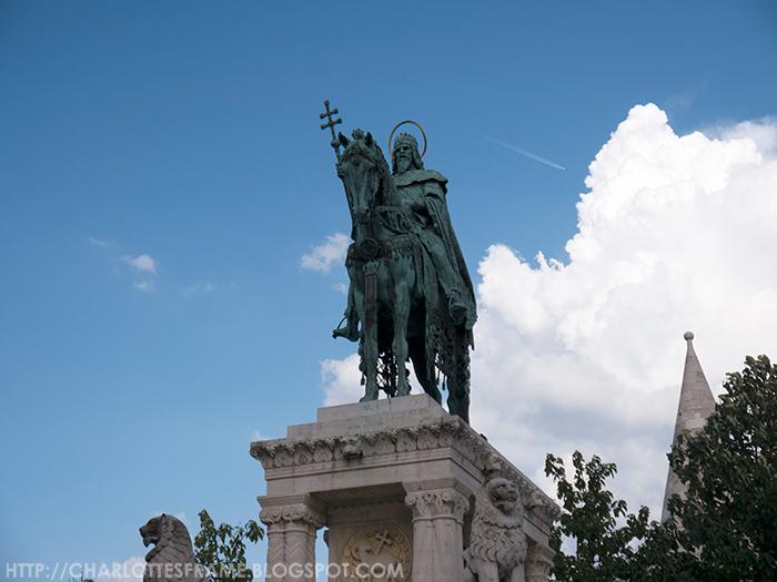 King Saint Stephen's modern sculpture
