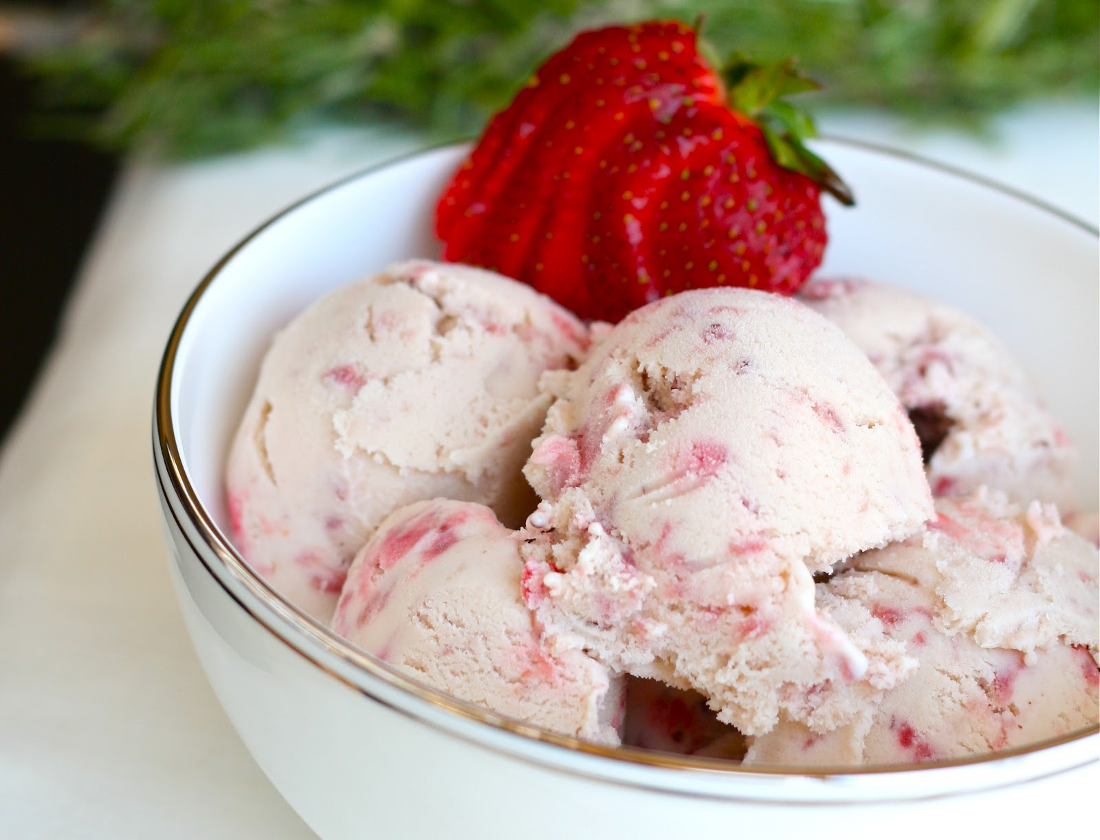 is for: Strawberry Balsamic Rosemary Ice Cream