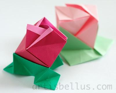 More Origami Roses