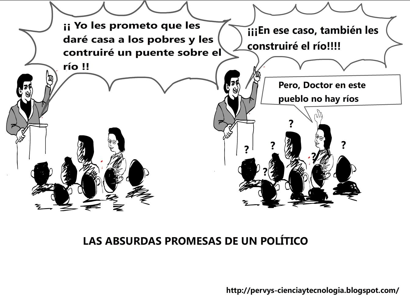CHISTE GRÁFICO: LAS ABSURDAS PROMESAS DE UN POLÍTICO
