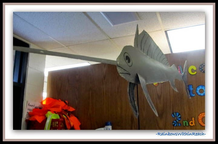 Ocean Sculpture in Elementary School {Ocean RoundUP at RainbowsWithinReach}