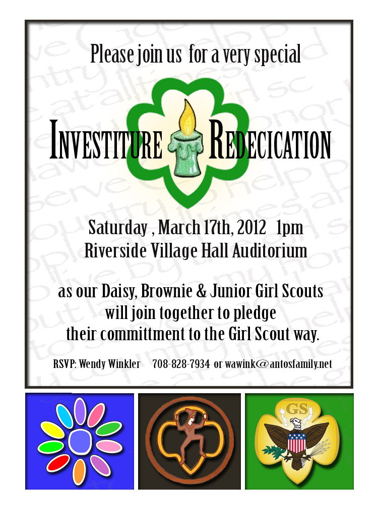 printable investiture ceremony invitation | just b.CAUSE
