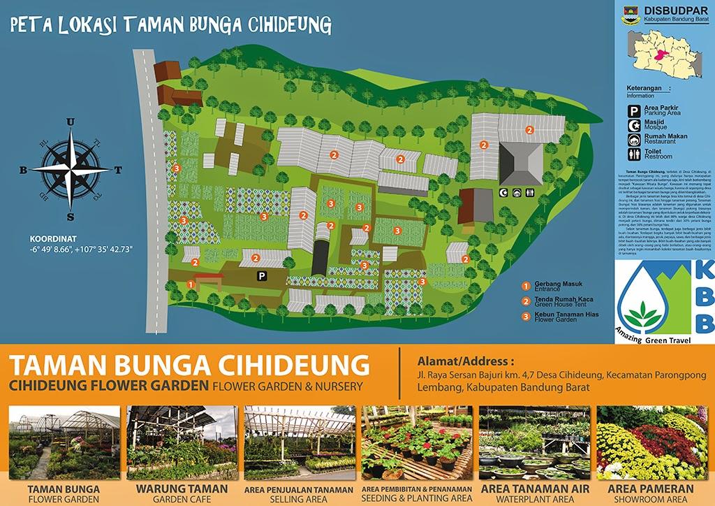 peta lokasi taman bunga cihideung