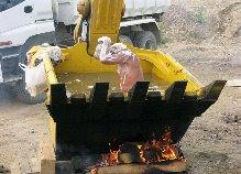 Banheira aquecida improvisada