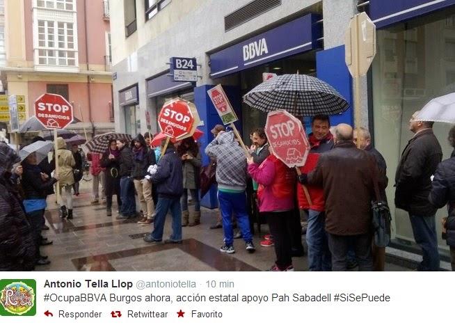 La pah bloquea m s de 50 oficinas del bbva por todo el for Bbva oficines barcelona