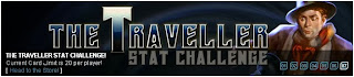 Banner for the Traveller stat challenge at Superhero City