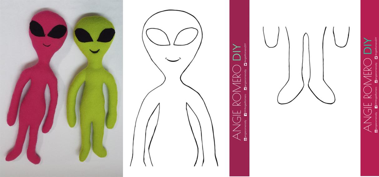 muñeco alien extratrerrestre moldes gratis
