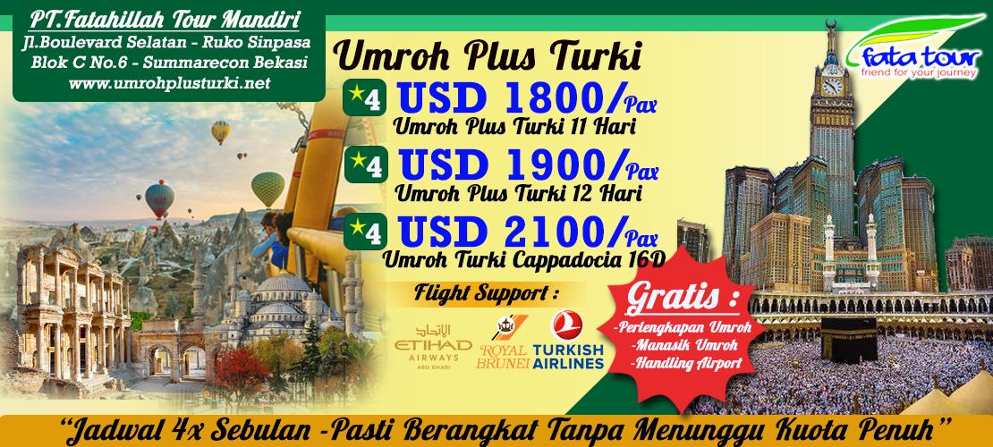 Paket Umroh Plus Turki Murah | Fatatour 081384211114