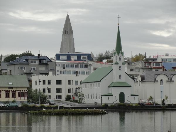 Reykjavik scenic in Iceland