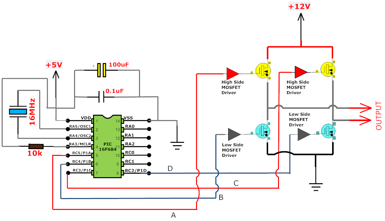 Inverter Circuit Tl494 50hz Fet Driver Diagram Basiccircuit Seekic I Have Previously Written Quite A Few Articles On Sinusoidal Pulse Width Modulation Spwm