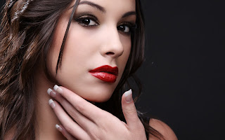 Glamour Girl Hair Lips Face HD Wallpaper