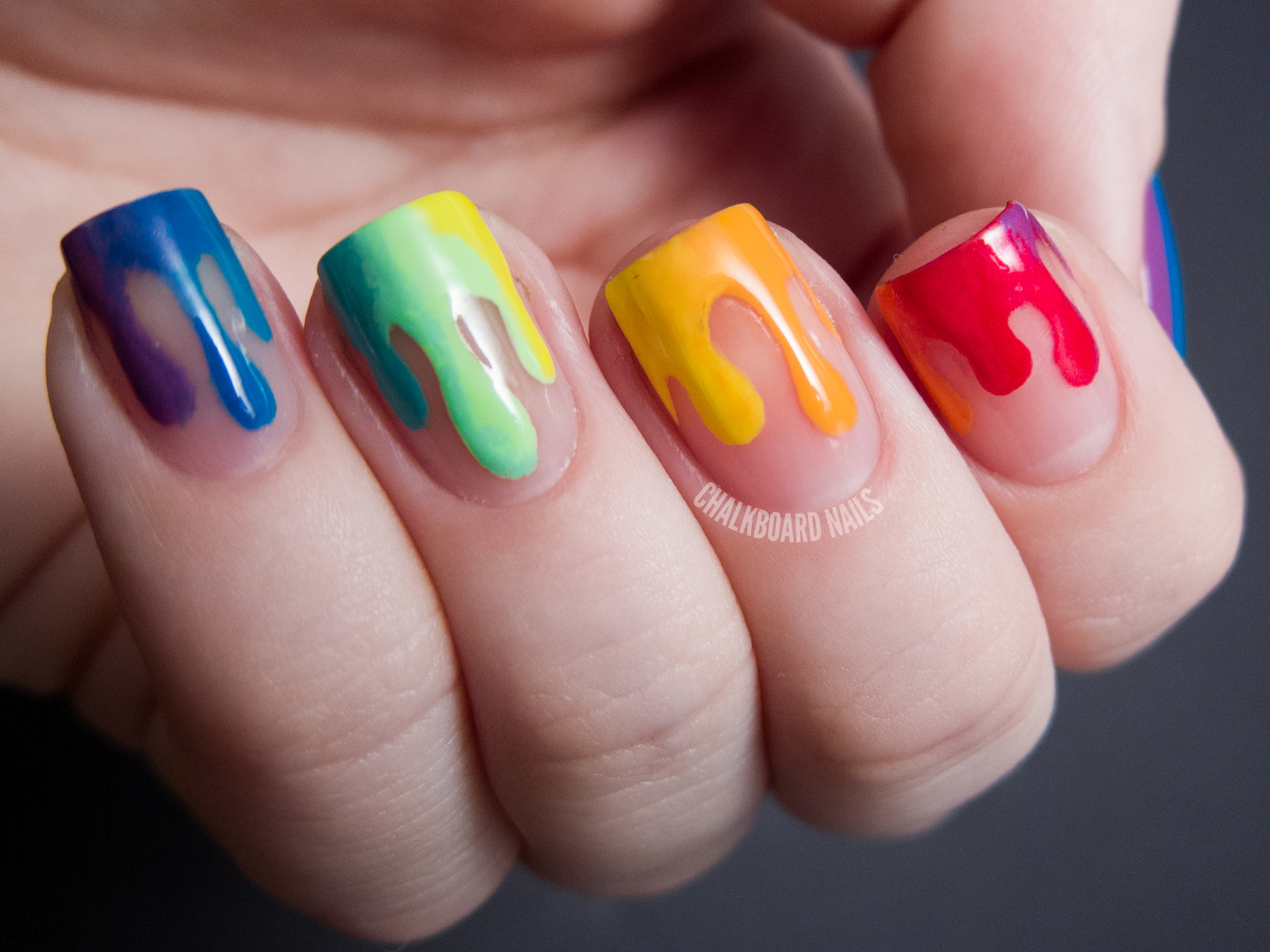 Trippy Drippy Chalkboard Nails Nail Art Blog