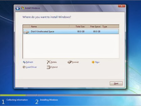 Cara Instal Windows 7 - Partisi Hardisk 2