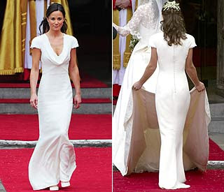 News feed pippa middleton 39 s 3 000 bridesmaid dress for sale for Pippa middleton wedding dress