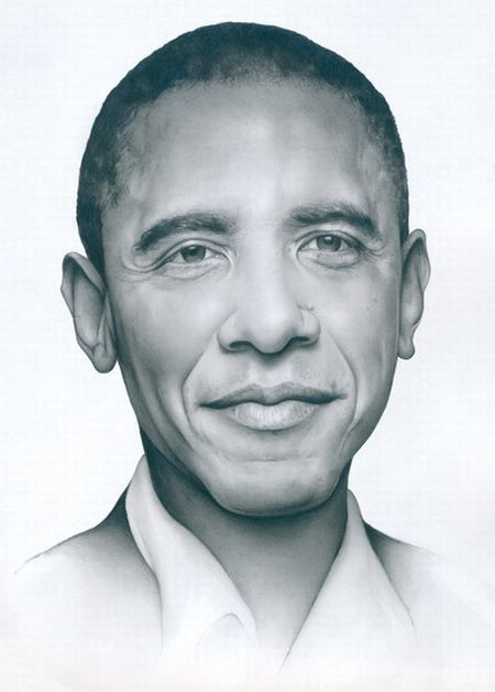 Obama Drawings Child Coloring