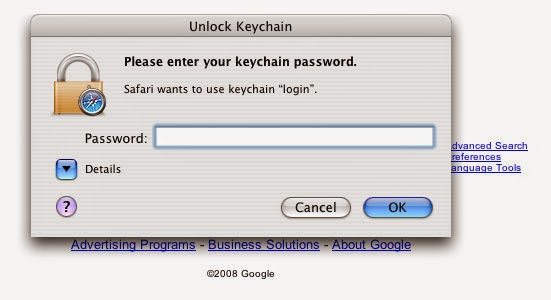 recover local items keychain password